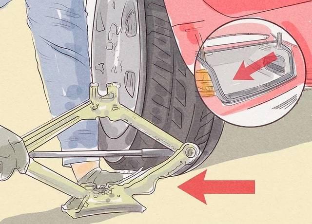 Wymiana koła krok 13 pomoc drogowa anhol