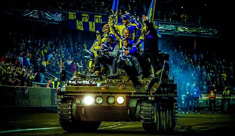 Impreza stal Gorzów z udziałem czołgu