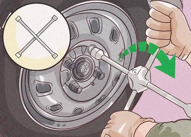 Wymiana koła krok 4 pomoc drogowa anhol